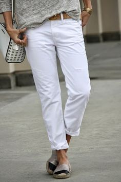 6 Ways to Rock White Jeans Starting Today via @PureWow