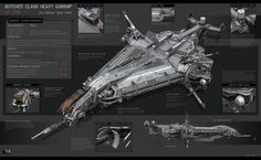concept ships: Butcher Class Heavy Gunship by KaranaK Spaceship Art, Spaceship Concept, Spaceship Design, Concept Ships, Concept Cars, Spaceship Interior, Science Fiction, Pixiv Fantasia, Sci Fi Spaceships