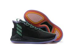 29bdfb997a9b 2018 adidas D Rose 9 Black Green Men s Shoes