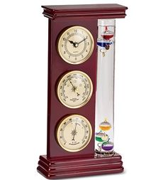 Galileo Weather Station with Clock, Barometer and Thermometer in Holiday 2012 from Wind & Weather on shop.CatalogSpree.com, my personal digital mall.