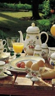 I\'ve been collecting pieces of Villeroy & Boch\'s French Garden china ...