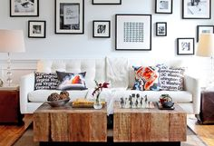 Decorative tables for living room - unique wooden table | Decolover.net