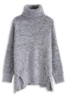 Warm My Soul Turtleneck Sweater in Grey 8f376517d639d