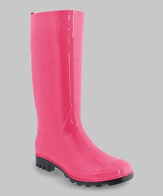 Pink Jelly Rain Boot #zulily #zulilyfinds