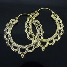Hoop Earring Indian Ethnic Jewelry Gold Plated Vintage Earrings Women Jewelry
