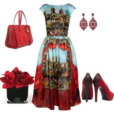"""""""printed dress..."""" by milimoga on Polyvore"""