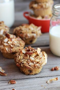 {Sweet potato, quinoa and dark chocolate coconut crumble crunch muffins.}