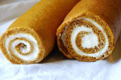 Amish Pumpkin Roll recipe. Because the Amish do everything right.