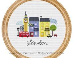 Cross Stitch Pattern PDF London DD0069