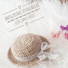 @designbybuket Merhaba mini şapkamın tarifi hazır. Doğaçlama ördüğüm bir sapkaydı. Bebeğin kafa ölçüsüne göre düzenlemeler yapmıştım.…