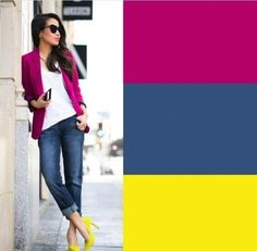 Cheap Women S Fashion Websites Colour Combinations Fashion, Color Combinations For Clothes, Color Blocking Outfits, Fashion Colours, Colorful Fashion, Color Combos, Fashion Over, Look Fashion, Fashion Outfits