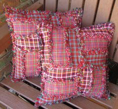 Have left over quilt squares from your latest project? Here's an easy way to recycle those - cute pillows!