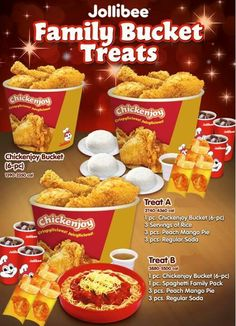 Jollibee is like the McDonald's of the Philippines! It is our fast food chain and there are even some locations in the California. I am a big fan of the spaghetti because our spaghetti is insanely sweeter than your average spaghetti. Desserts Menu, Food Menu, Kentucky Fried Chicken Menu, Peach Mango Pie, Local Fast Food, Chicken Bucket, Delivery Menu, Menu List, Jollibee
