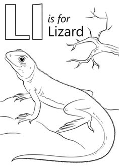 Letter L is for Lizard coloring page from Letter L category. Select from 26657 printable crafts of cartoons, nature, animals, Bible and many more.