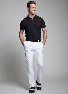 Resultado de imagen para camisas para combinar con pantalon blanco hombre