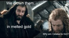 It's because you're hot Fili. Thranduil, Legolas, Hobbit Funny, Daughter Of Smoke And Bone, Bagginshield, Fili And Kili, An Unexpected Journey, Thorin Oakenshield, Fantasy Movies