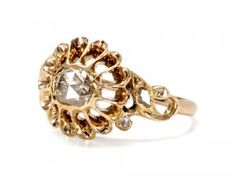 Gorgeous antique Victorian rose-cut diamond ring from The Three Graces.