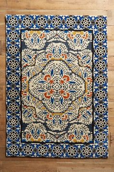 Wouldn't work in my home, but love it! Tufted Regalia Rug - anthropologie.com