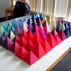 Would make a beautiful wall piece. I really want to make some of these amazing paper visualizations.