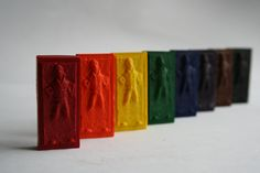The Dark Side just got more colorful. Han Solo in carbonite crayons.