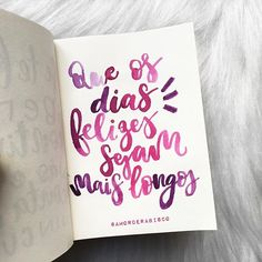 Simm! Feliz segundona! #diasfelizes #amorderabisco #aquarela #pink #rosa #rabisco #dias #felicidade #moderncalligraphy Pink Quotes, Instagram Feed, Lettering, Words, Inspiration, Scrap, Inspire, Memes, Positive Words