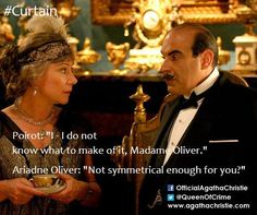'Cards on the Table' with Zoe Wanamaker as Madame Oliver and David Suchet as Poirot. Agatha Christie's Poirot, Hercule Poirot, Best Mysteries, Murder Mysteries, Death In The Clouds, Bbc Tv Shows, David Suchet, Classic Comedies, Best Authors