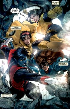 Nightcrawler; Jubilee; Shadowcat; Psylocke