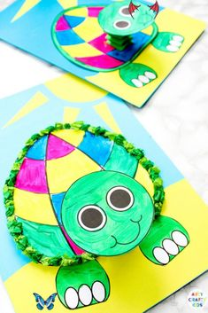 Printable 3D Turtle Paper Craft for Kids   Arty Crafty Kids Printable 3D Turtle Paper Craft for Kids - An easy Summer craft for kids who love turtles and ocean animal crafts. Start by downloading the printable turtle template.<br> Printable 3D Turtle Paper Craft for Kids - a fun, interactive and easy under the sea paper craft for kids make, with a printable turtle template. Ocean Animal Crafts, Animal Crafts For Kids, Summer Crafts For Kids, Paper Crafts For Kids, Toddler Crafts, Paper Crafting, Art For Kids, Easter Crafts, Christmas Crafts