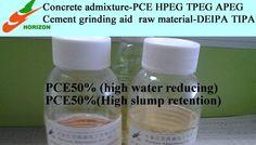 Polycarboxylate superplasticizer PCE konkretaj akvo reductor betono miksaĵo