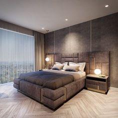 Captivating Modern Bedroom Decor Ideas for Men 2018 - Why Maxx Apartment Design, Bed Furniture Design, Apartment Interior Design, Bedroom Interior, Luxurious Bedrooms, Home Decor, Modern Bedroom, Home Interior Design, Interior Design