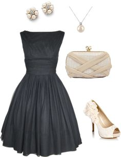 classic and classy -  would love to wear this on a night out to the symphony