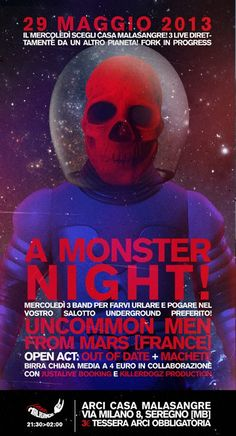 A Monster Night! Uncommon Man From mars!