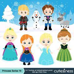 Frozen Clipart, Frozen Party, Frozen Birthday decoration, Frozen Clip art, Frozen Illustration, Frozen Poster, Disney Princess Clipart