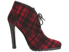 Ralph Lauren Collection Tartan Boot. I still have trouble believing the price of good shoes. Jeez. But they sure are gorgeous.