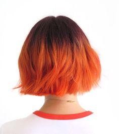 Le but du tangerine hair est d'obtenir un orange très vitaminé qui luit au soleil