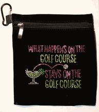 What Happens On The Golf Course Stays On The Golf Course Bling Accessory Bag