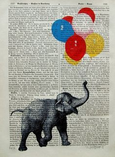 LUCKY Giclee Print Poster Mixed Media Acrylic Painting illustration Digital Animal