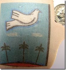 Valerie Aharoni explains how she transfers images from baking parchment to polymer clay without the use of any other medium. I must try this! Imagine making my own photo transfer tiles to hang on the wall.
