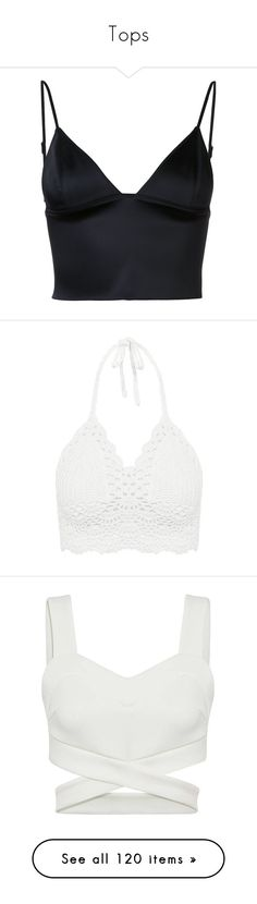 """Tops"" by patriciaaa02 ❤ liked on Polyvore featuring tops, crop tops, shirts, blusas, bralet, black, bralet tops, bralette tops, spaghetti strap shirt and shirt crop top"