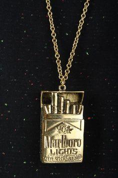 Necklace Marlboro Lights Etui Cigarette Accessories Jewellery