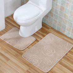 Garland Rug 3Piece Traditional Nylon Washable Bathroom Rug Bath Mesmerizing 3 Piece Bathroom Rug Sets Design Inspiration