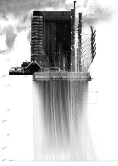 RIBA 2009 Part 2 Medal - A Defensive Architecture, Nicholas Szczepaniak, University of Westminster London Coupes Architecture, Architecture Graphics, Architecture Student, Architecture Drawings, Landscape Architecture, Architecture Design, Computer Architecture, Famous Architecture, Chinese Architecture