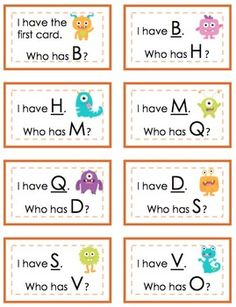 I Have, Who Has? ABCs