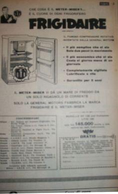 """www.piziarte.net La pubblicità negli anni 50 """"FRIGO"""" dalla rivista settimanale """"Il Tempo"""" 1954."""