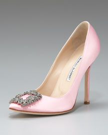 Spring Manolos in my wedding color...YES please!! I've been looking for a baby pink shoe for so long. Time to start saving up for my $945 wedding shoes