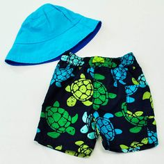 Turtle Club // Baby Boys 6-9 mos. Swim Trunks and Hat- Carter's- Click to see the whole 12 piece lot!