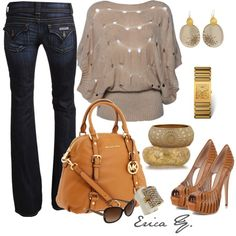 Taupe & Gold