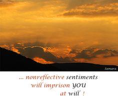 ... nonreflective #sentiments will imprison YOU at will !