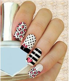 I just love these nails! Perfect Nails, Gorgeous Nails, Pretty Nails, Crazy Nails, Love Nails, Acrylic Nails, Gel Nails, Disney Nails, Nagel Gel