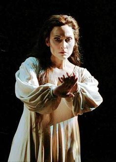 """""""Here's the smell of the blood still; all the perfumes of Arabia will not sweeten this little hand. O, O, O."""" (5.1.42) Lady Macbeth realizes that the blood on her hands will never come off and the guilt drives her insane."""